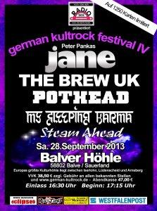 German Kultrock Festival Balver Höhle 28.09.2013